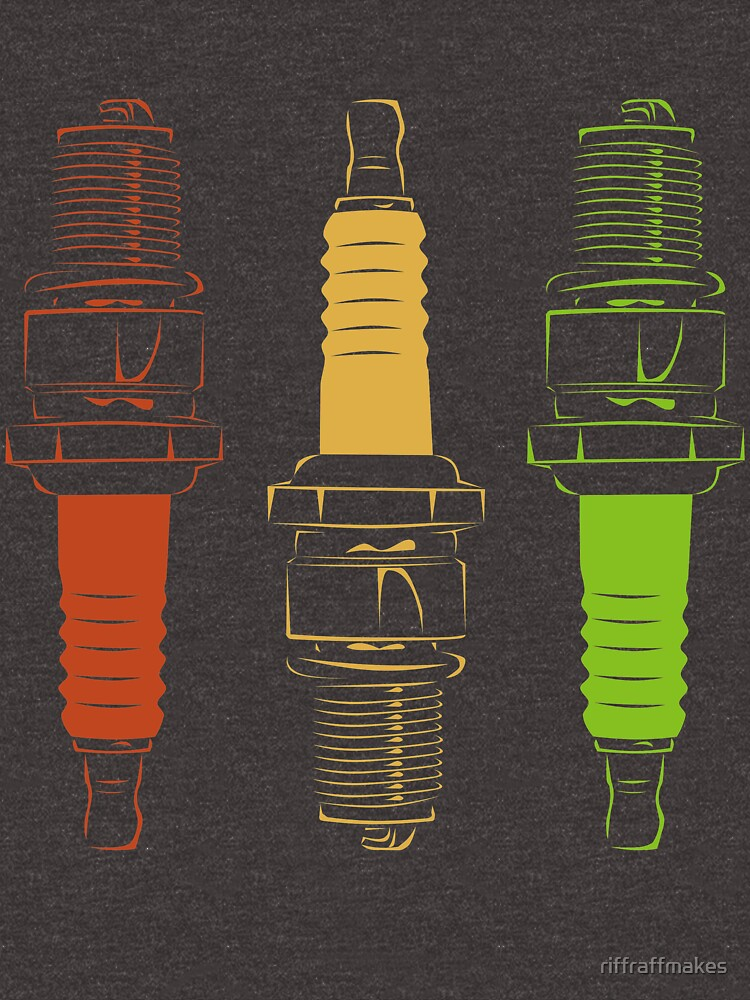 Spark Plugs Traffic Light Colours by riffraffmakes