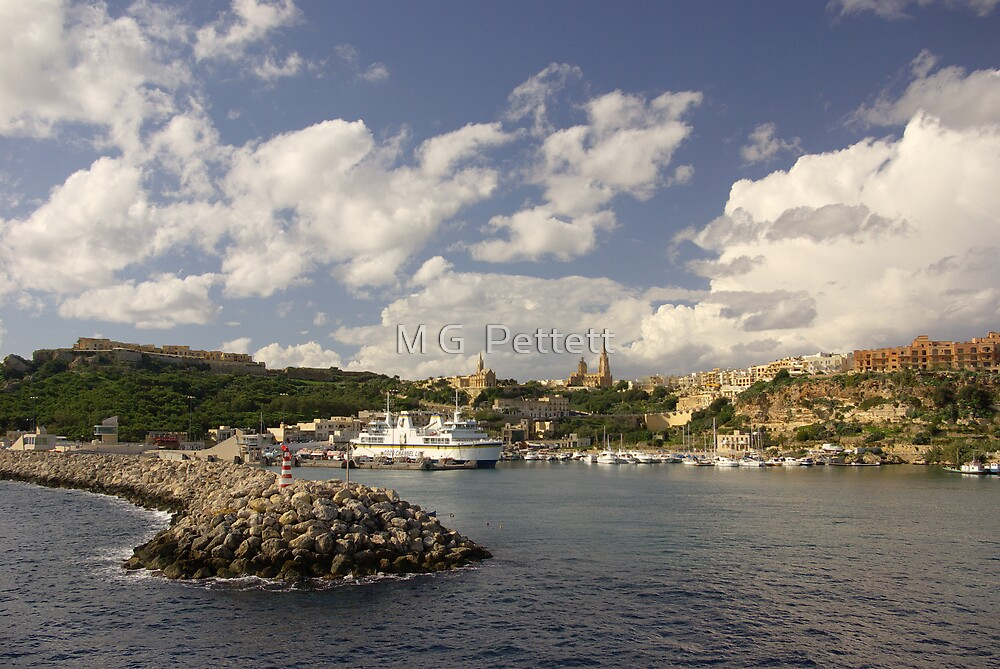 Mgarr harbour, Gozo by M G  Pettett