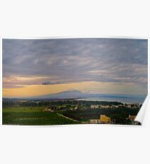 Etna and the gulf of Catania from Agnone Poster
