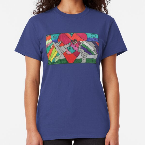 Rhinos in Love by Ocean Classic T-Shirt