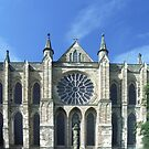 Rose Window in Chapel of Nine Altars, Durham Cathedral, England by Bev Pascoe