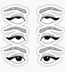 Eye Rolling Club Sticker