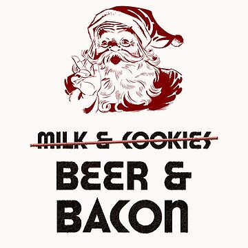 Christmas Adult Funny Beer & Bacon Santa by WeaponizedPigs