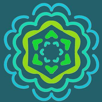 Lucky Sixes Mandala by BettyMackey