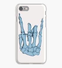 Skeleton hand | Blue iPhone Case/Skin