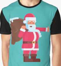 Santa On Delivery Service Kids Clothes Graphic T-Shirt