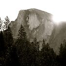 sunrise behind half dome by Nicole M. Spaulding