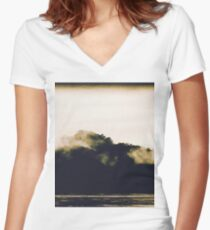Abstract forest Women's Fitted V-Neck T-Shirt