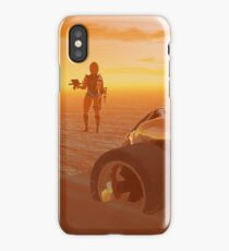 ARES CYBORG IN THE DESERT OF HYPERION,Sci Fi iPhone Case/Skin