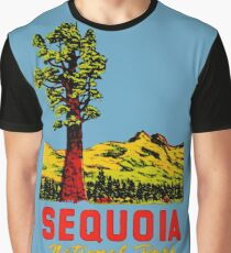 Sequoia National Park California Vintage Travel Decal Graphic T-Shirt