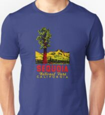Sequoia National Park California Vintage Travel Decal Unisex T-Shirt