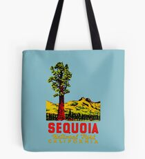 Sequoia National Park California Vintage Travel Decal Tote Bag
