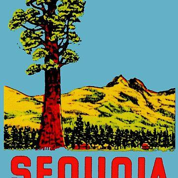 Calcomanía de viaje vintage Sequoia National Park California de hilda74