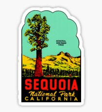Sequoia National Park California Vintage Travel Decal Sticker