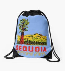 Sequoia National Park California Vintage Travel Decal Drawstring Bag