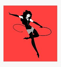 fetish female character with whip Photographic Print