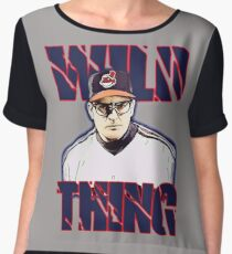 Wild thing - Rick Vaughn Chiffon Top