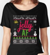 Jolly AF Ugly Christmas Sweater Women's Relaxed Fit T-Shirt