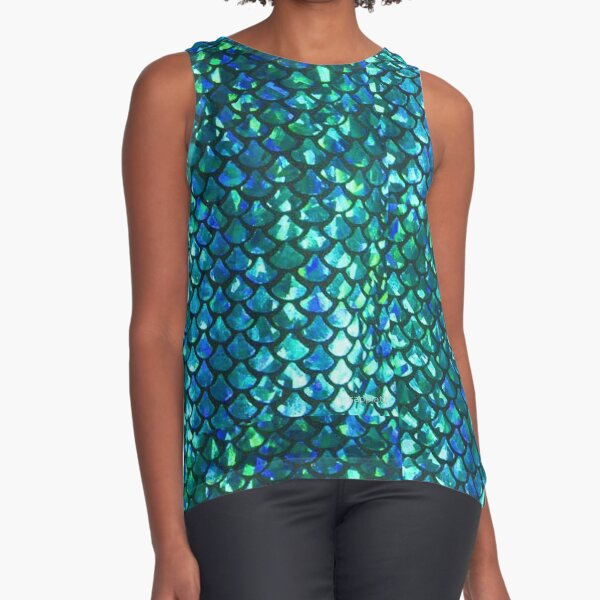 MERMAID fish scales & shimmery glimmer! Sleeveless Top