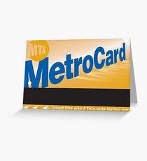 Metro Card Greeting Card