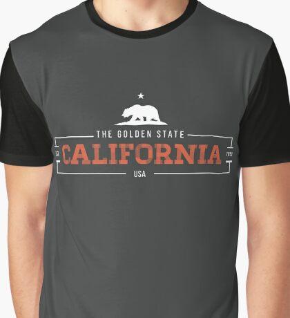 California American State Design Graphic T-Shirt