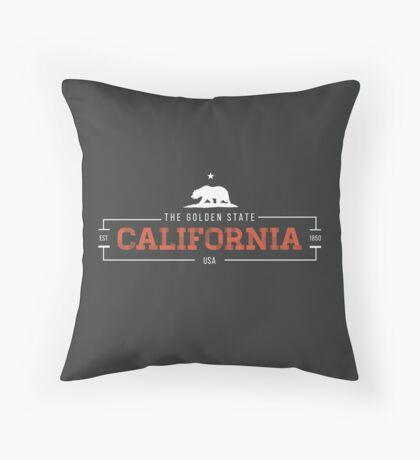 California American State Design Throw Pillow