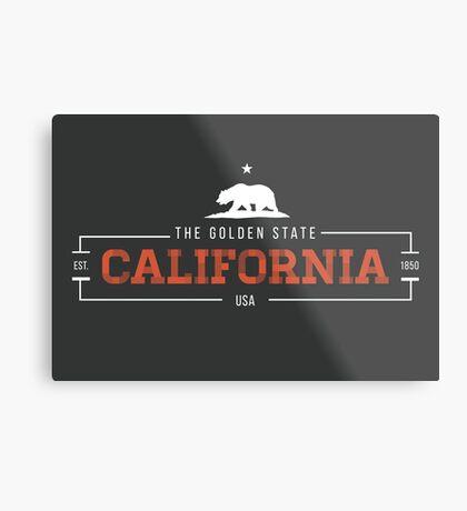 California American State Design Metal Print