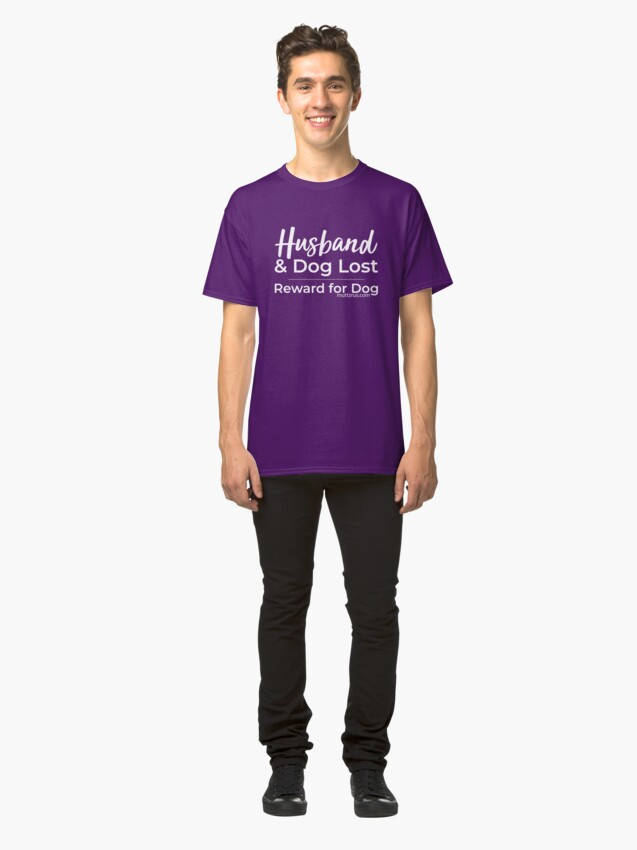 Alternate view of Husband and Dog White Text Classic T-Shirt