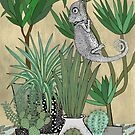 Chameleon in the house plants  by Bronia Sawyer