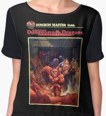 Vintage Dungeons & Dragons DM Rule book (Remastered) Women's Chiffon Top