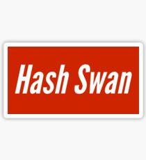 Hash swan supreme style Sticker