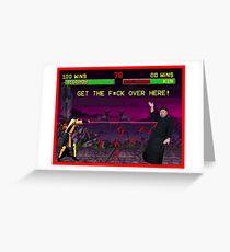 Scorpion vs Kim Jong Un Greeting Card
