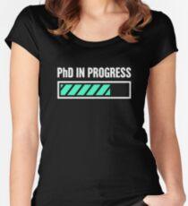 PhD In Progress Women's Fitted Scoop T-Shirt