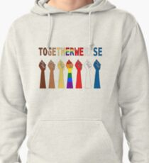 Together we rise, #togetherwerise, Women's March, 2018, 2019 Pullover Hoodie