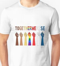 Together we rise, #togetherwerise, Women's March, 2018 Unisex T-Shirt