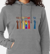 Together we rise, #togetherwerise, Women's March, 2018, 2019 Lightweight Hoodie