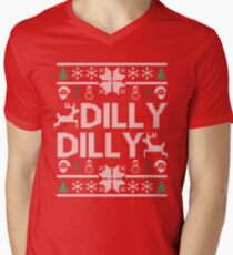 dilly dilly a true friend of the crown bud light  christmas sweater ugly sweatshirt  T-Shirt