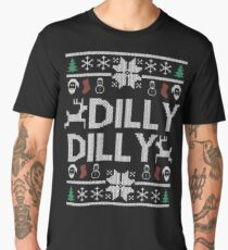 dilly dilly a true friend of the crown bud light  christmas sweater ugly sweatshirt  Men's Premium T-Shirt