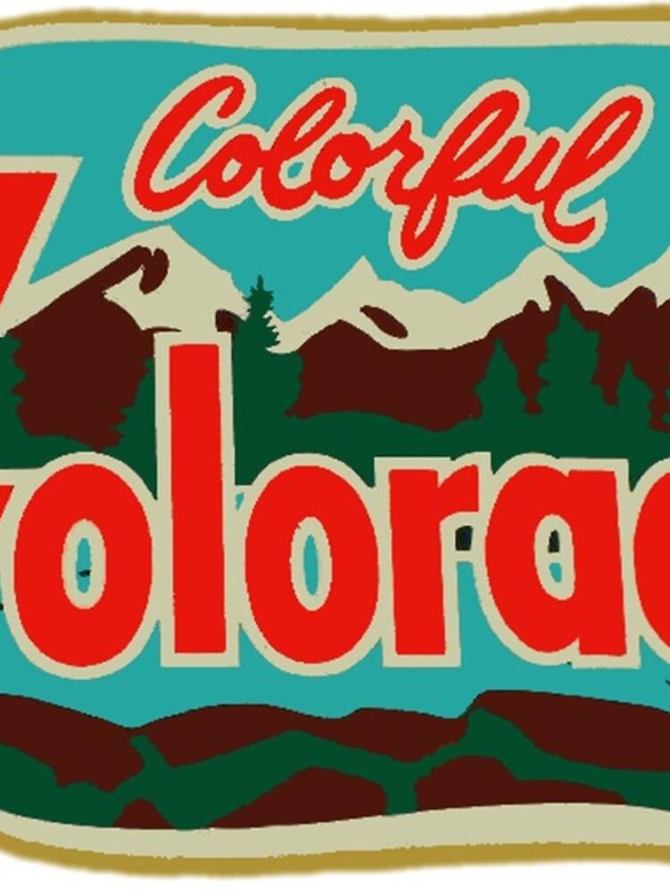 Calcomanía de viaje colorida de Colorado Vintage de hilda74