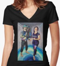 Humans in the Visionary Age Women's Fitted V-Neck T-Shirt
