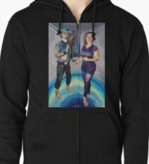 Humans in the Visionary Age Zipped Hoodie