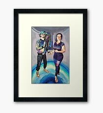Humans in the Visionary Age Framed Print