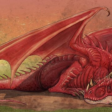 Sleeping red dragon by nyctherion