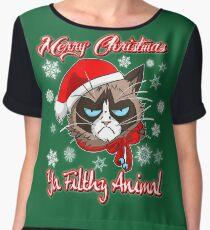 Cat Gifts - Christmas Gift Ideas for Men Women Women's Chiffon Top