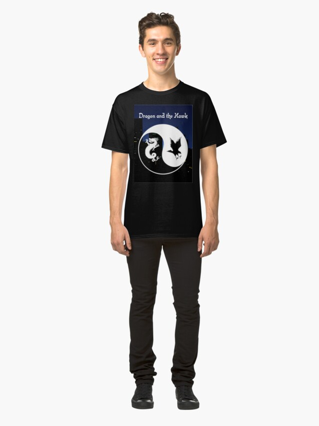 Alternate view of Dragon and the Hawk Cityscape Classic T-Shirt