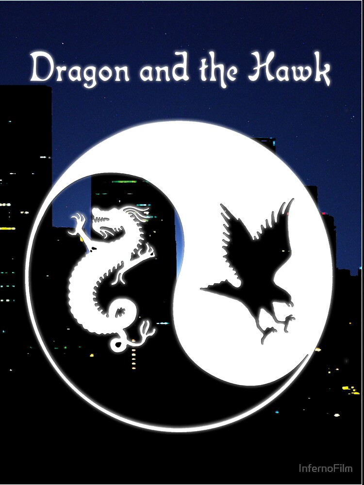 Dragon and the Hawk Cityscape by InfernoFilm