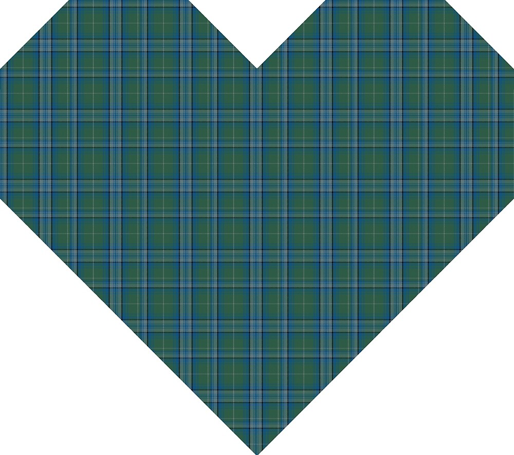 Landscape Architect Geo Heart Fashion Tartan  by Detnecs2013