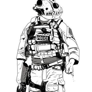 K9 B&W by VigilanteSilver