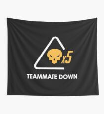 Teammate Down Merchandise Wall Tapestry
