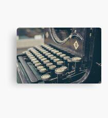 Retro Typewriter Keyboard  Canvas Print